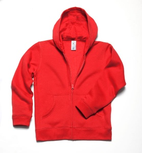 Kinder sweater B&C Hooded Full Zip